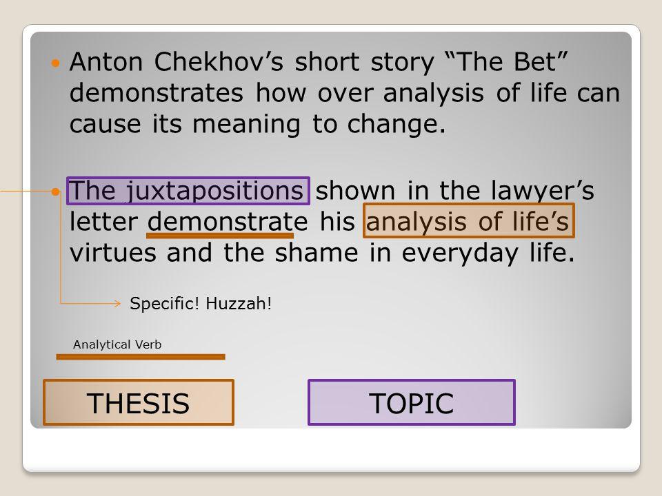 chekhov the bet analysis
