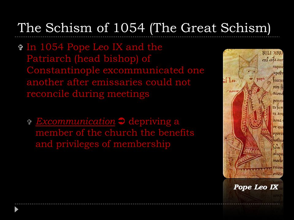 The Schism of 1054 (The Great Schism)