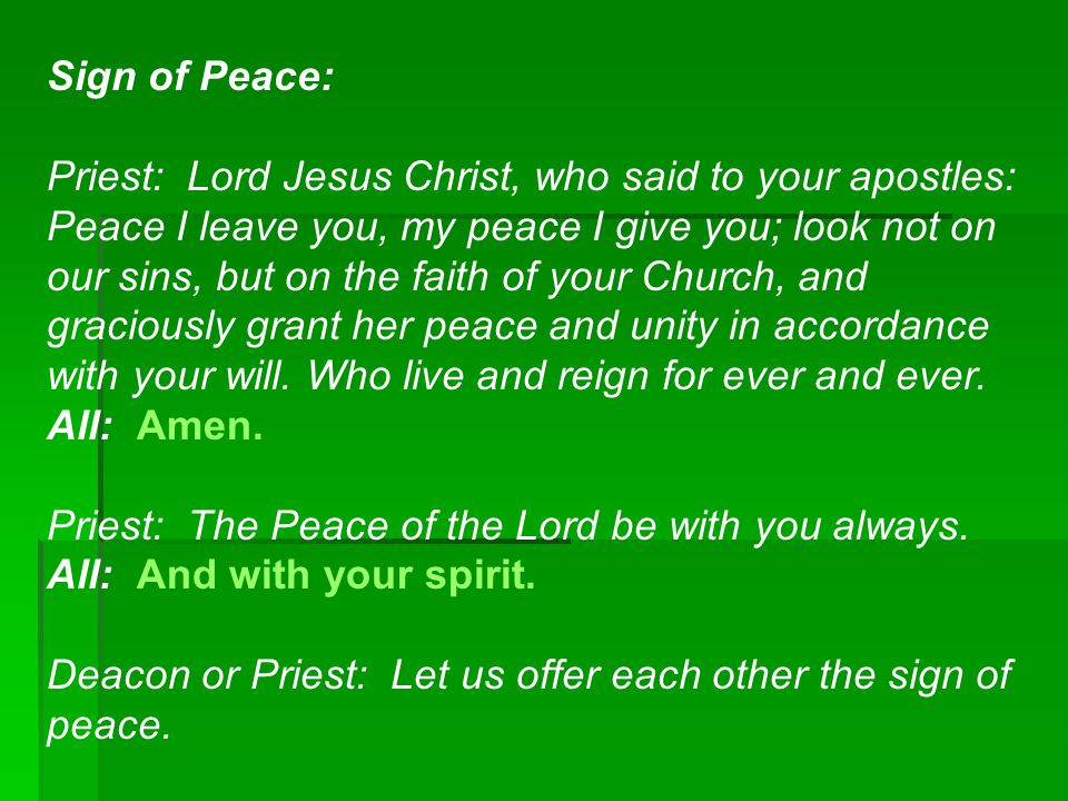 Sign of Peace: