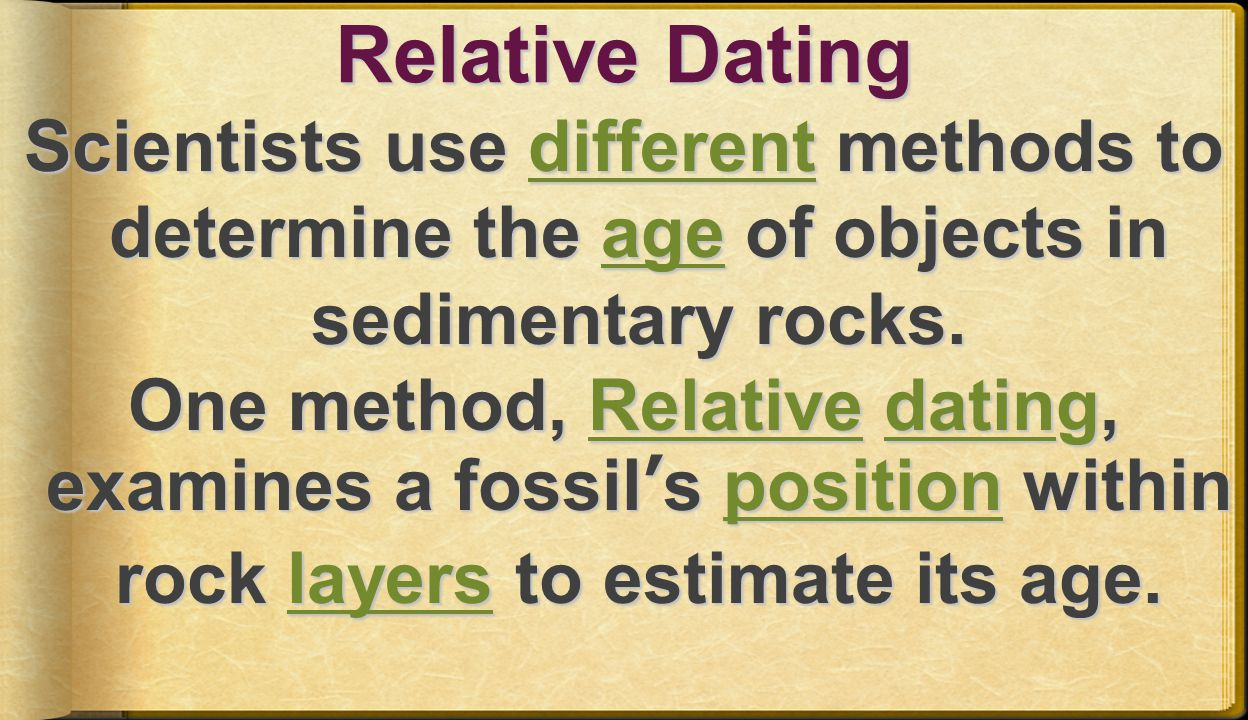 relative dating uses what to estimate how old a fossil is