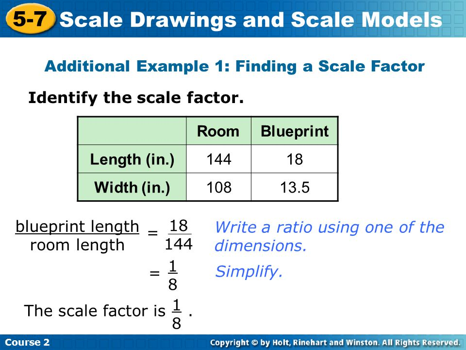 Scale drawings and scale models ppt video online download additional example 1 finding a scale factor malvernweather Image collections