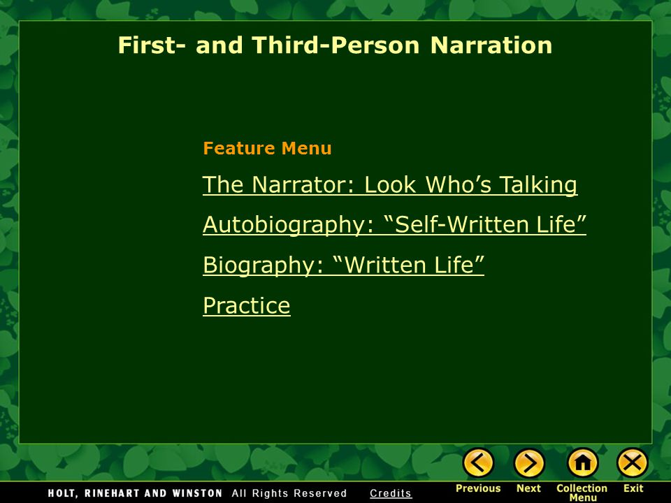 First- and Third-Person Narration