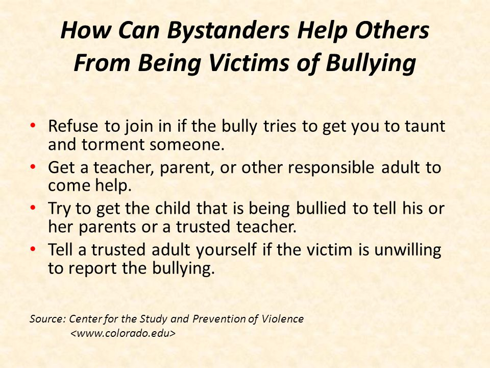 How Can Bystanders Help Others From Being Victims of Bullying