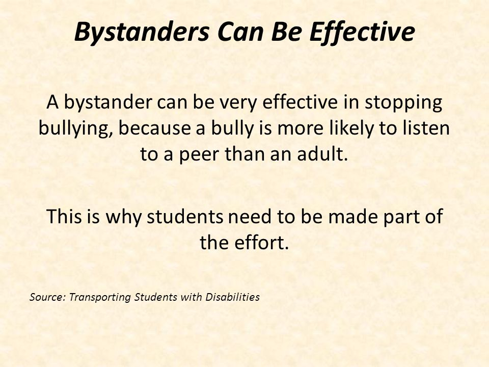 Bystanders Can Be Effective