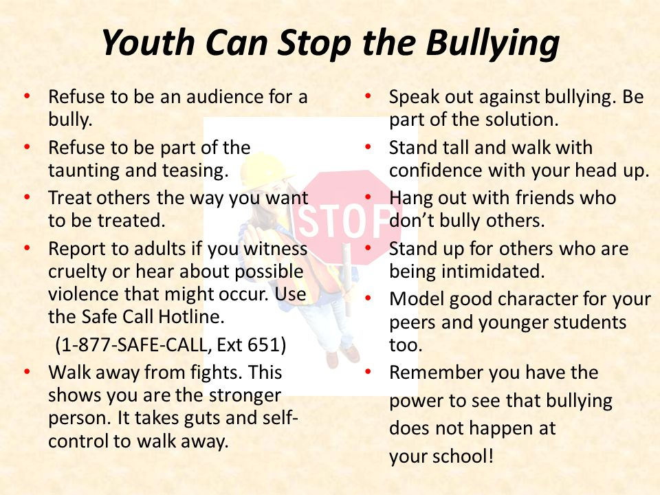 Youth Can Stop the Bullying