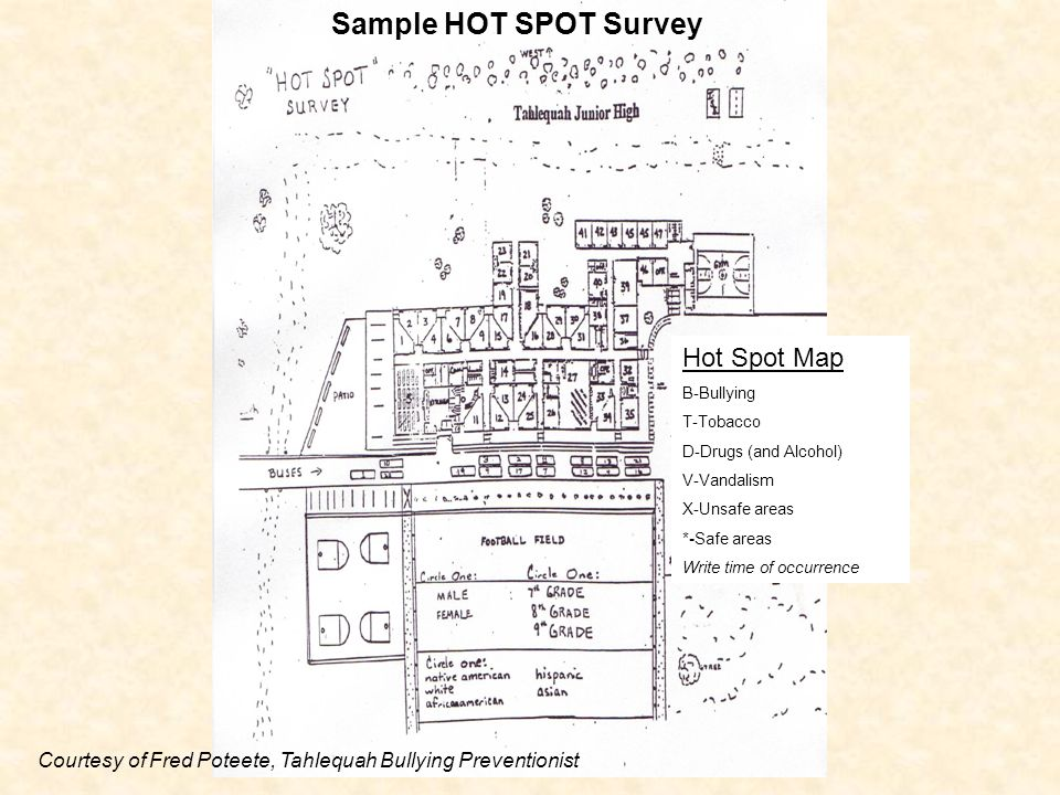 Sample HOT SPOT Survey Hot Spot Map