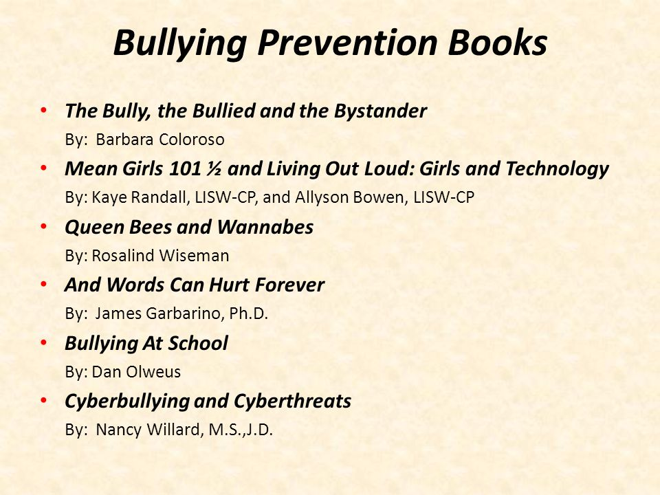 Bullying Prevention Books