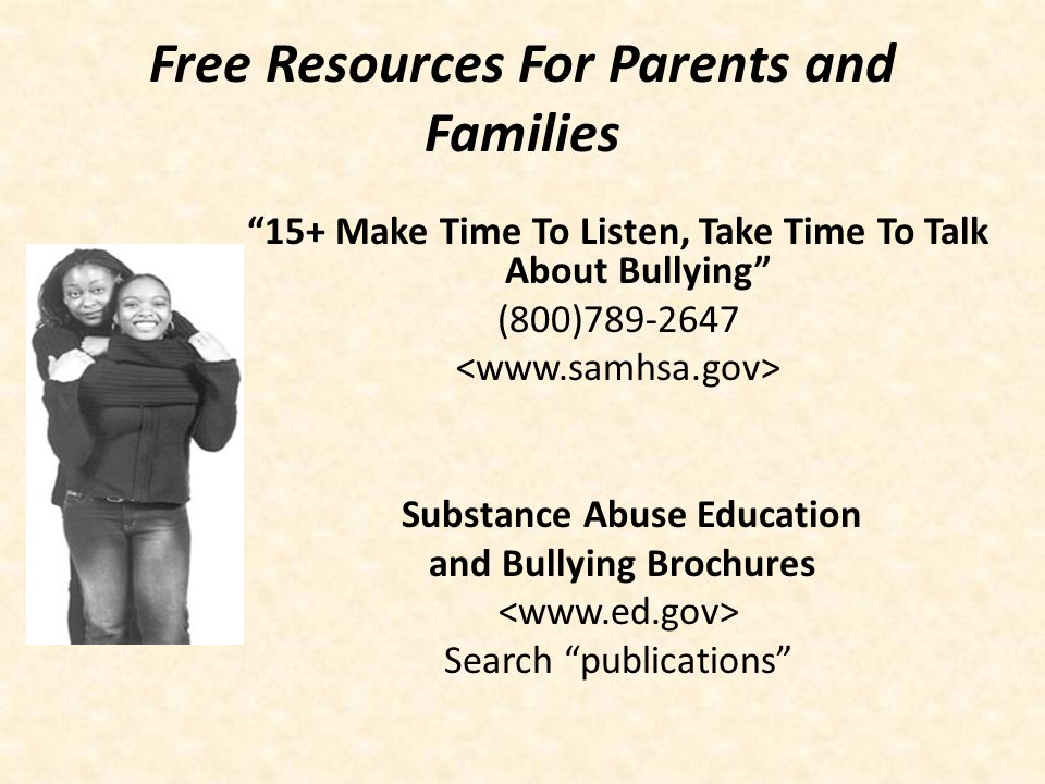 Free Resources For Parents and Families