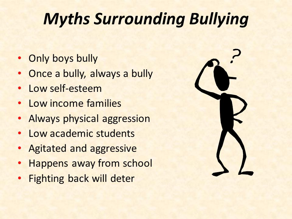 Myths Surrounding Bullying