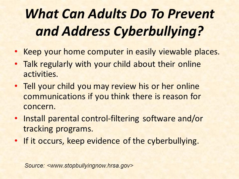 What Can Adults Do To Prevent and Address Cyberbullying