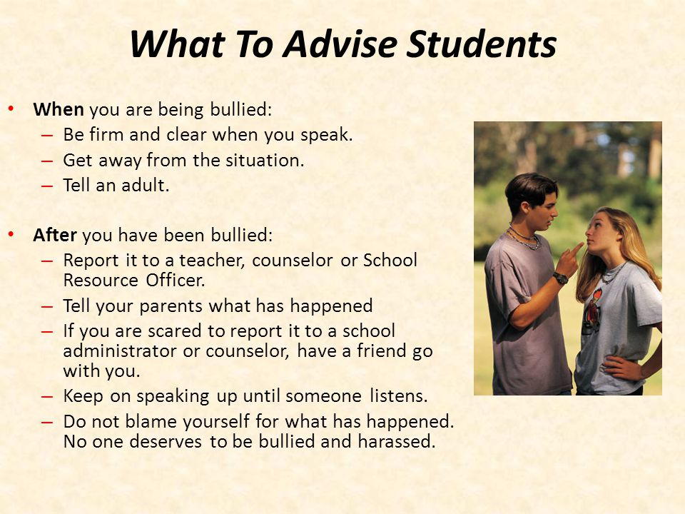 What To Advise Students
