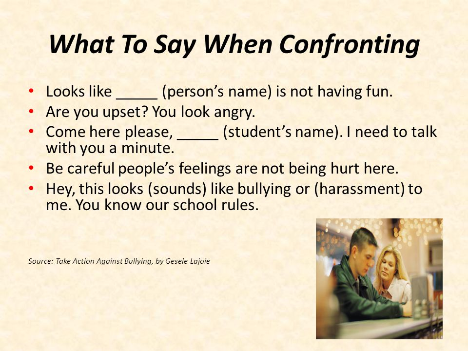 What To Say When Confronting