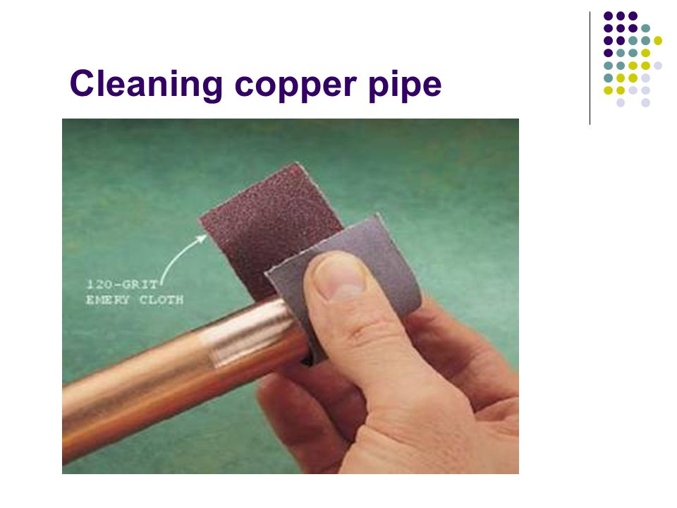 Cleaning copper pipe