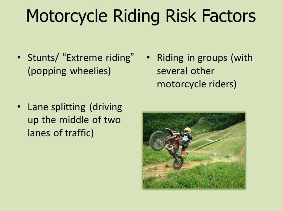 Motorcycle Riding Risk Factors