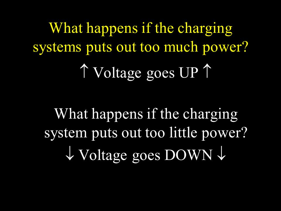 What happens if the charging systems puts out too much power