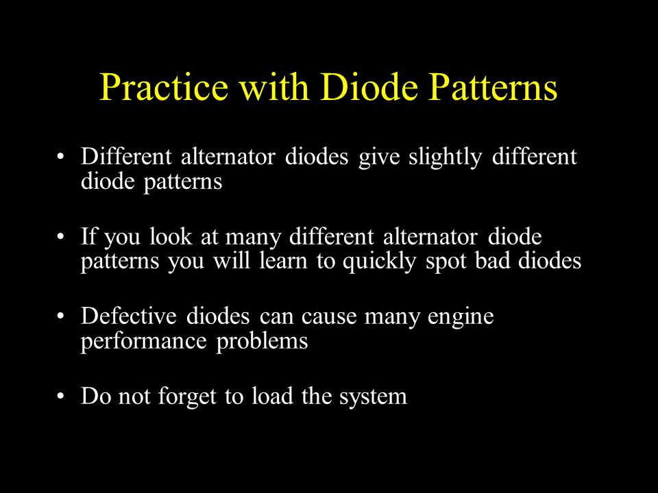 Practice with Diode Patterns