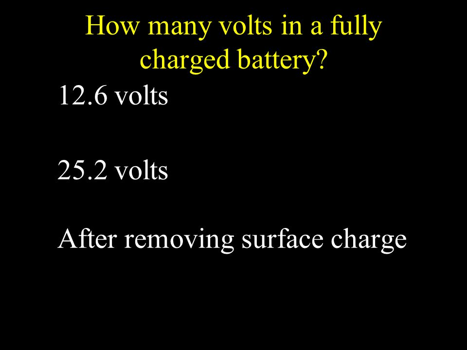 How many volts in a fully charged battery