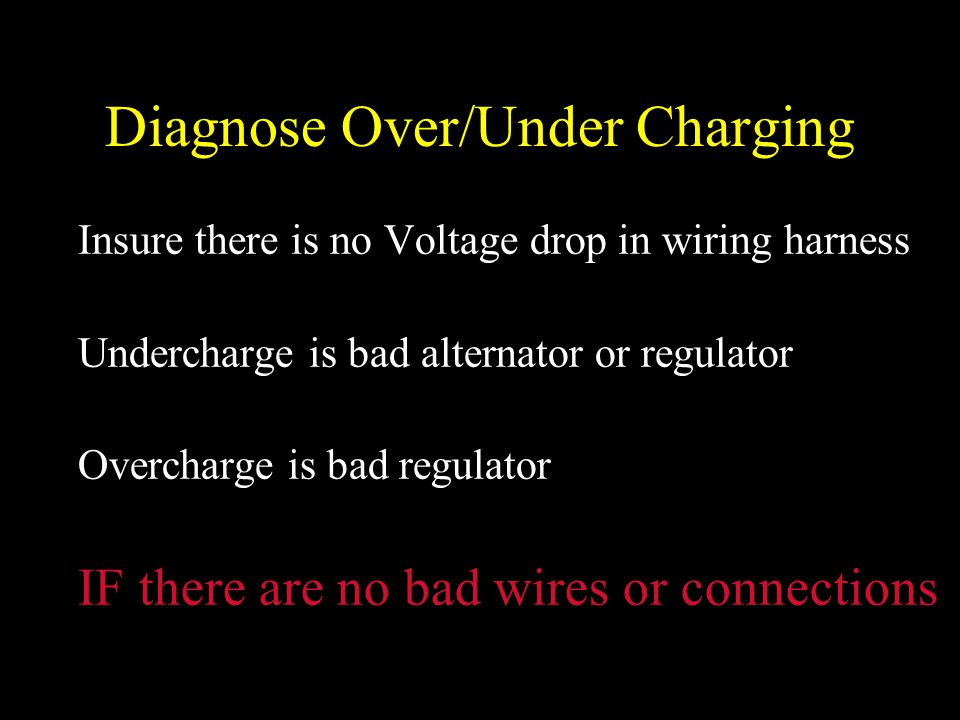 Diagnose Over/Under Charging