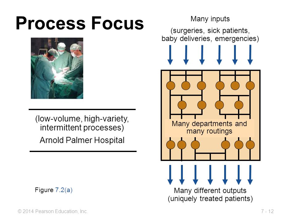 Process Focus (low-volume, high-variety, intermittent processes)