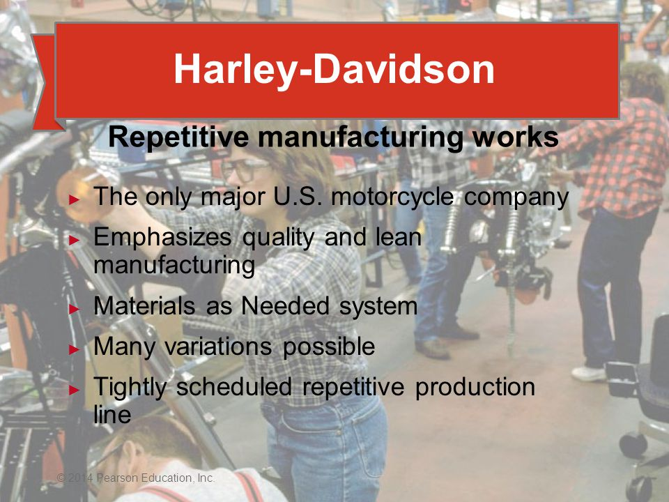 Repetitive manufacturing works