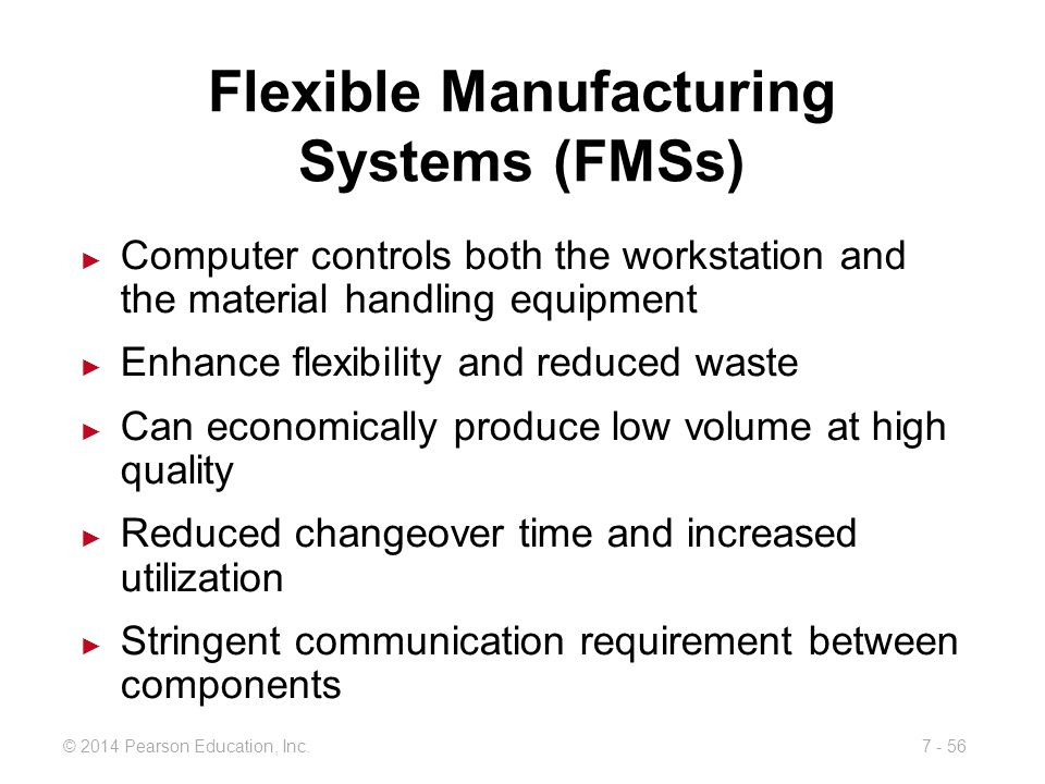 Flexible Manufacturing Systems (FMSs)