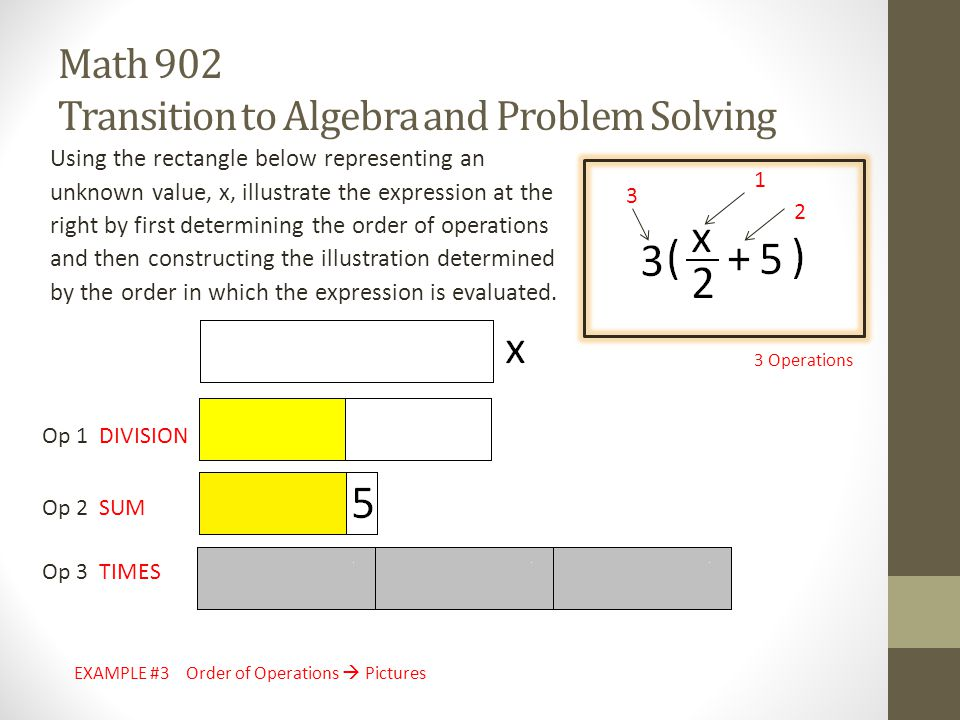 Math 902 Transition to Algebra and Problem Solving - ppt