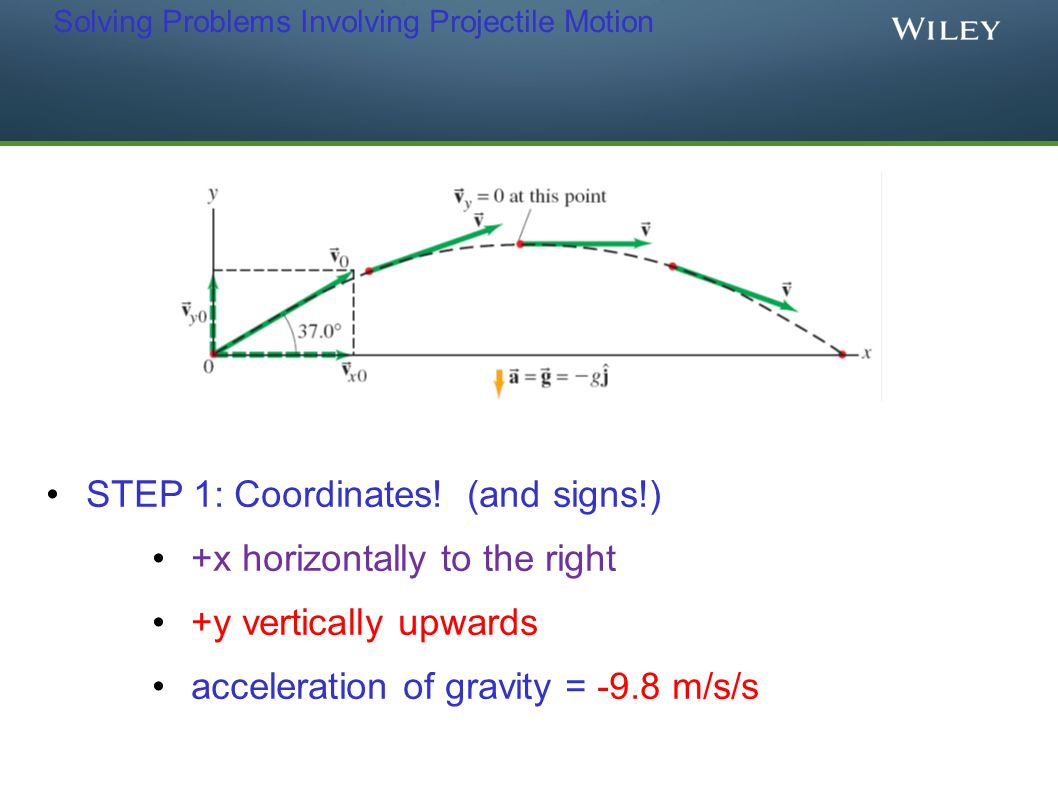 Solving Problems Involving Projectile Motion