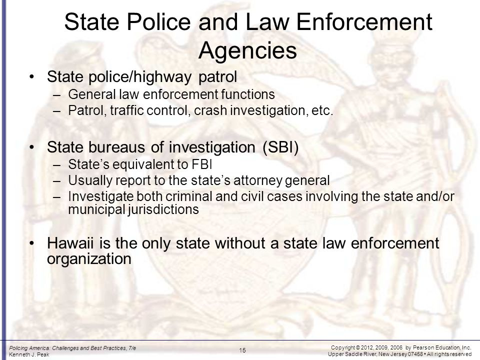 State Police Duties Perform a variety of nontraffic functions