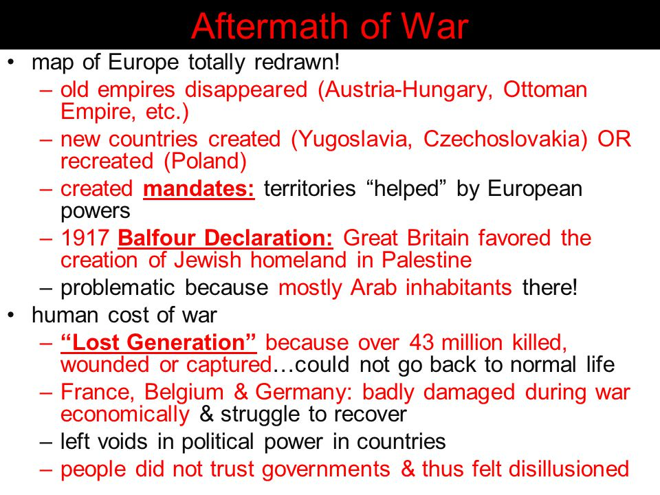 Aftermath of War map of Europe totally redrawn!