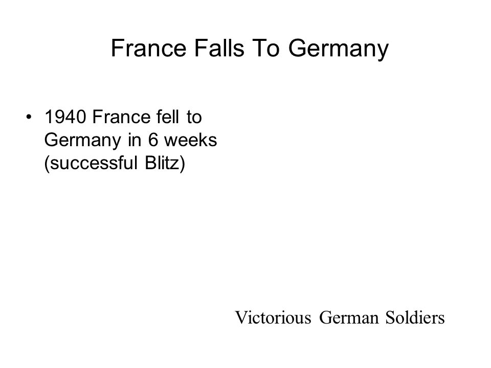 France Falls To Germany