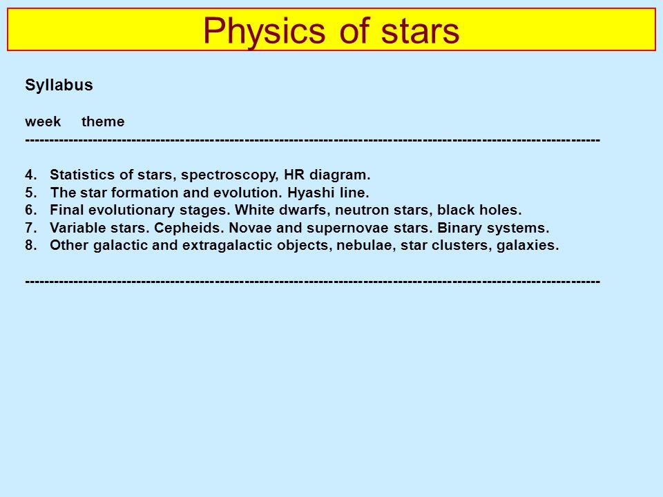Physics of stars syllabus week theme ppt download physics of stars syllabus week theme ccuart Gallery