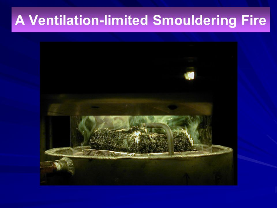A Ventilation-limited Smouldering Fire