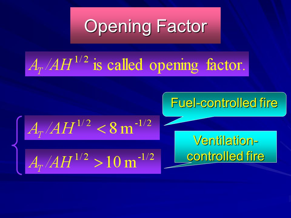 Ventilation-controlled fire