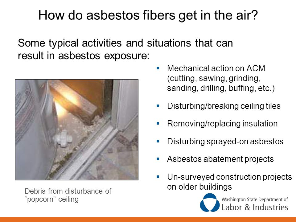 Asbestos Fibers In The Air : Course outline the following topics will be covered ppt