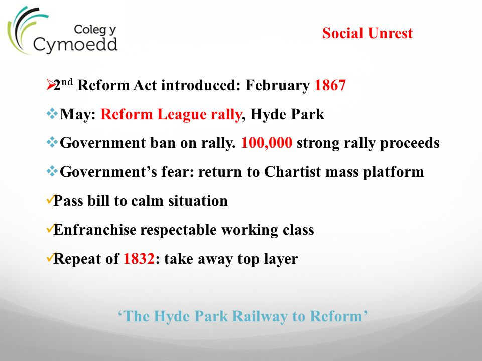 'The Hyde Park Railway to Reform'
