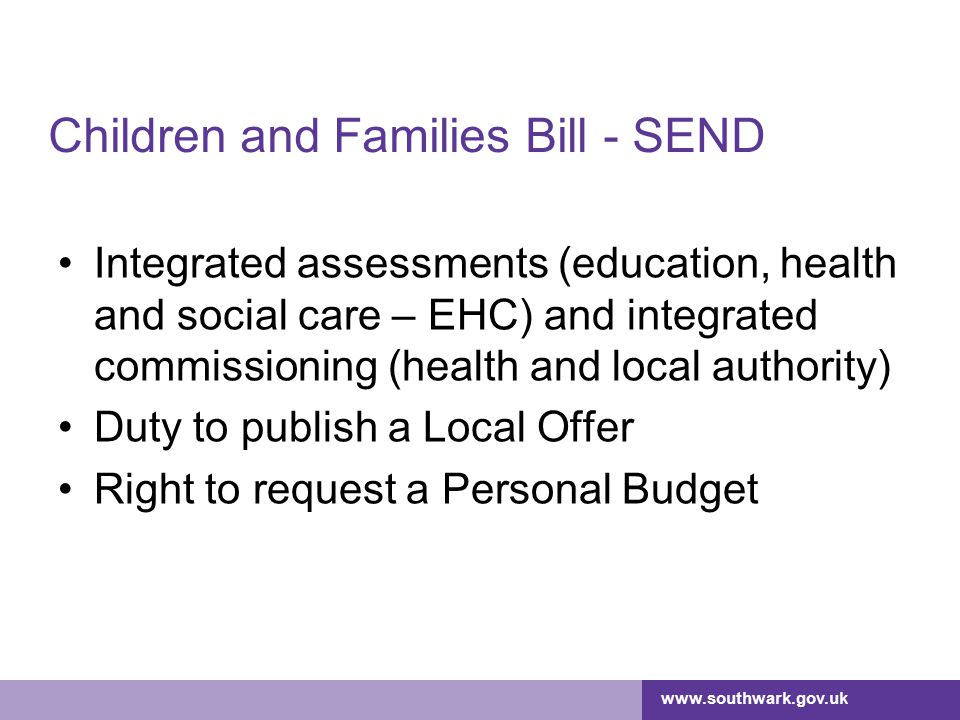 Children and Families Bill - SEND