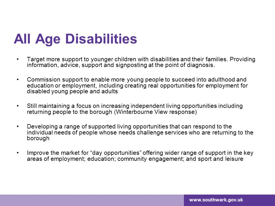 All Age Disabilities