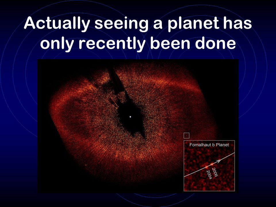 Actually seeing a planet has only recently been done