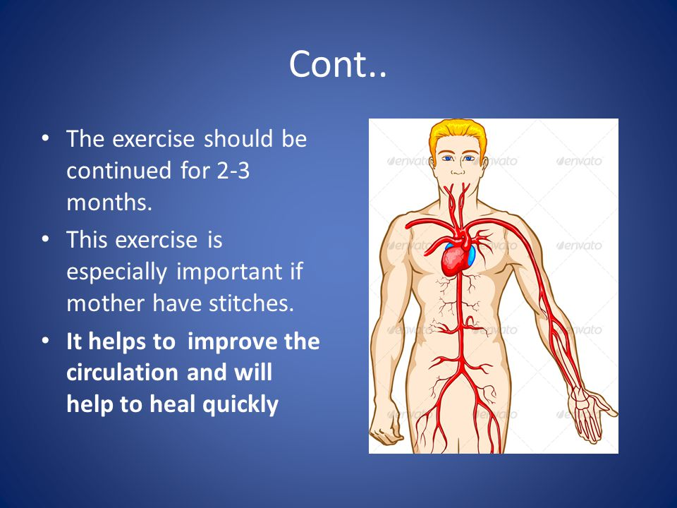 Cont.. The exercise should be continued for 2-3 months.