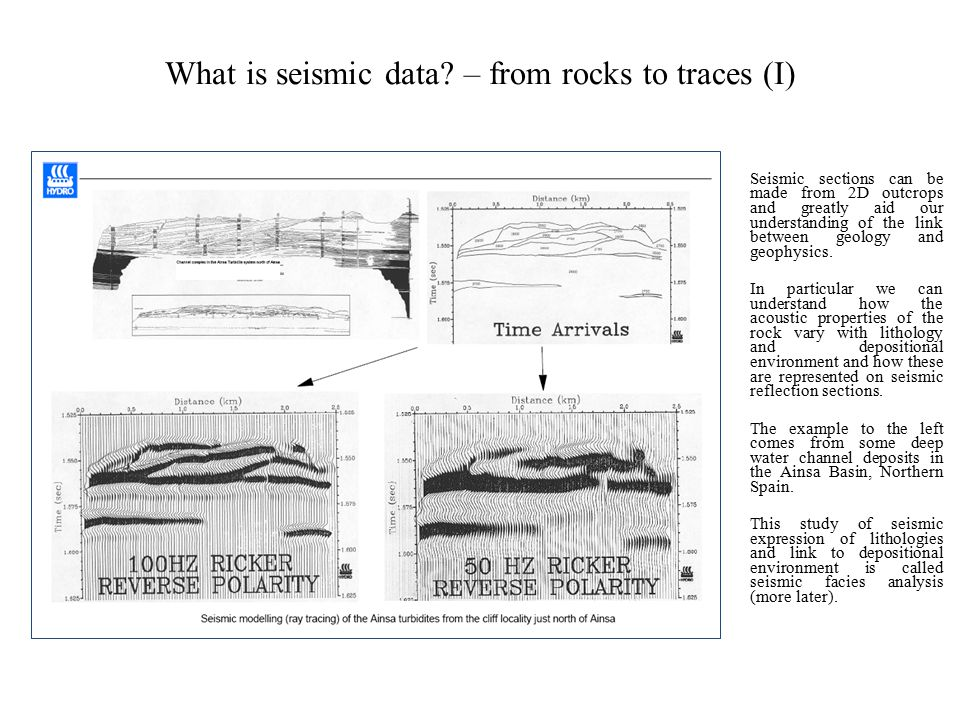 What is seismic data – from rocks to traces (I)