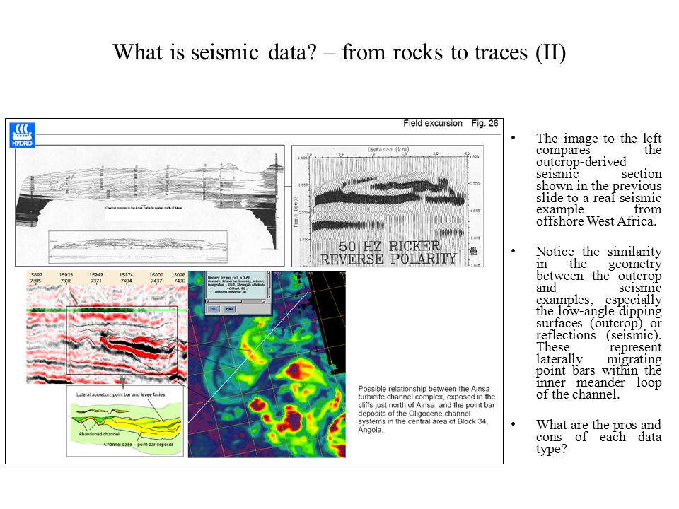 What is seismic data – from rocks to traces (II)