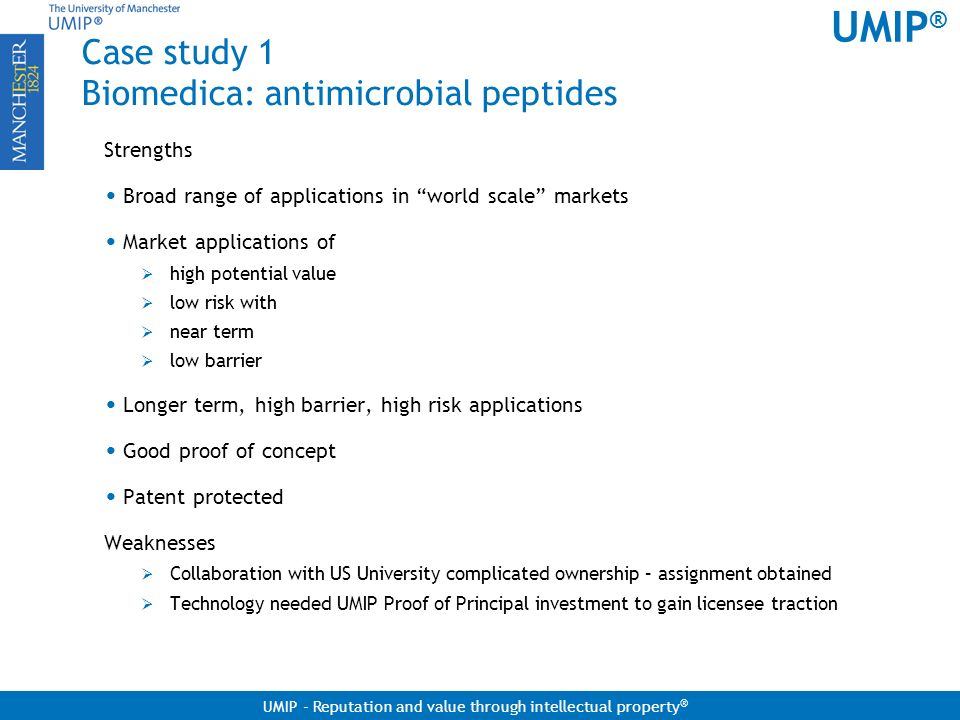 Case study 1 Biomedica: antimicrobial peptides