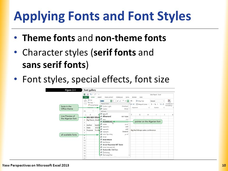 Applying Fonts and Font Styles