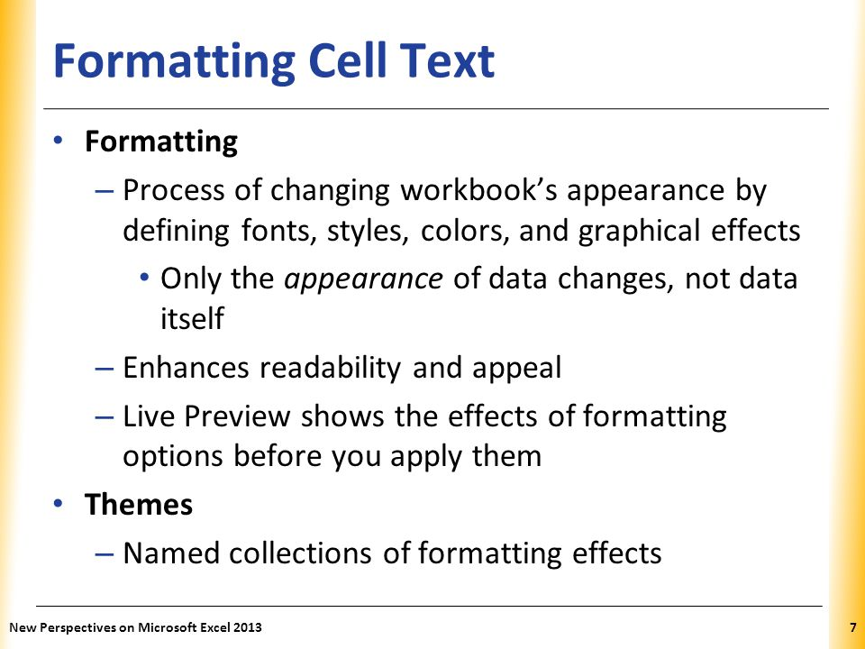 Formatting Cell Text Formatting
