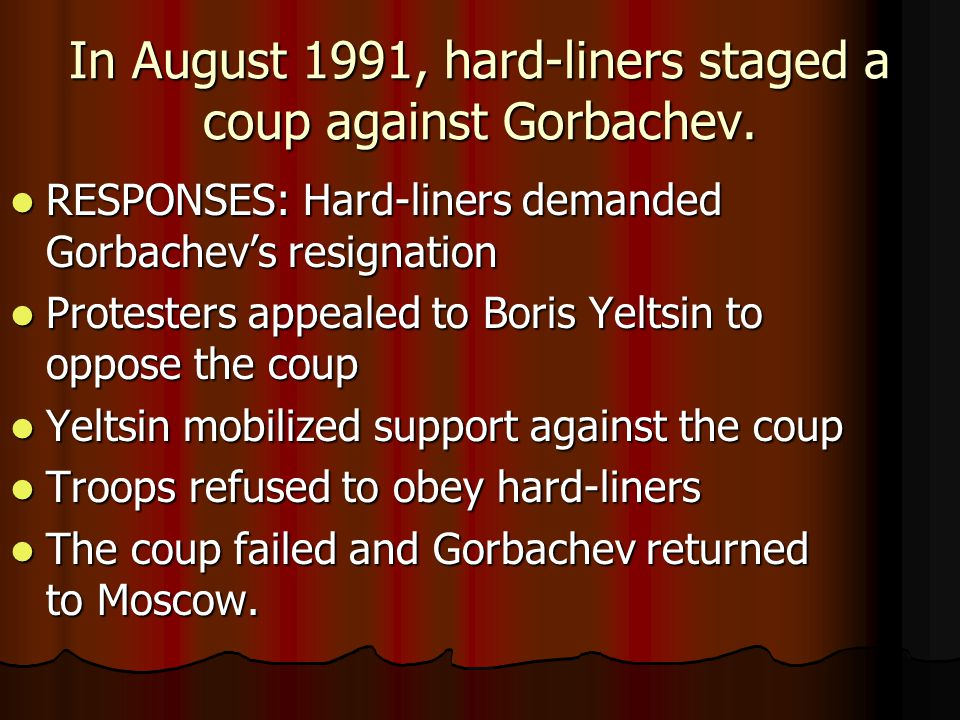 Image result for soviet coup against mikhail g orbachev fails