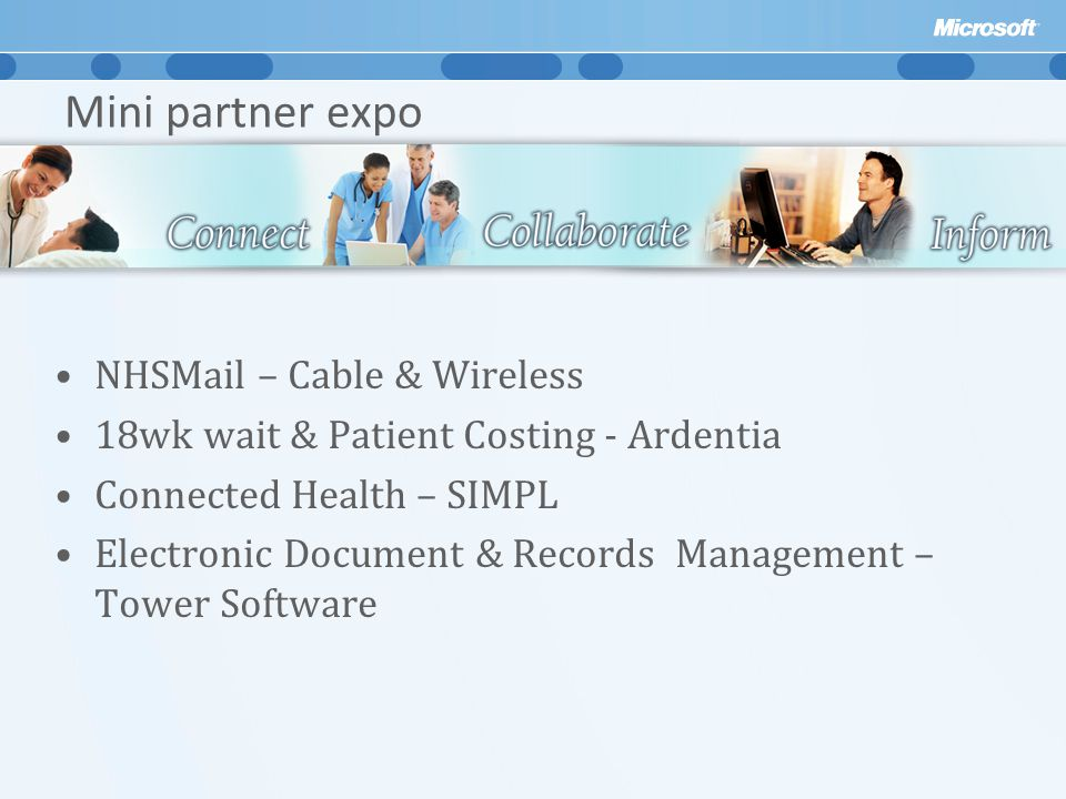 Mini partner expo NHSMail – Cable & Wireless