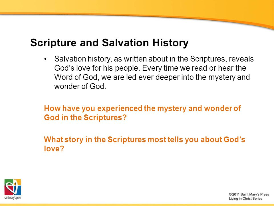 Scripture and Salvation History