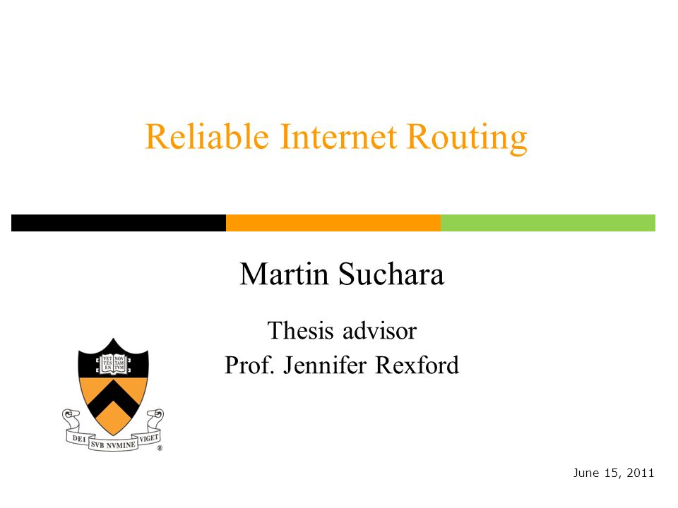 Reliable Internet Routing