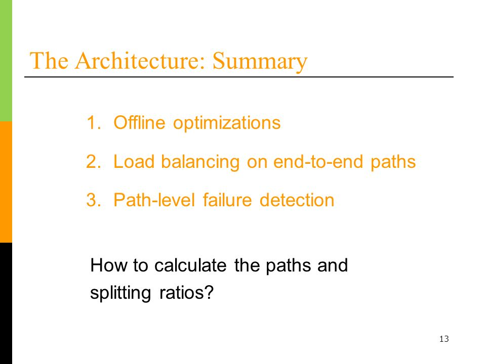 The Architecture: Summary