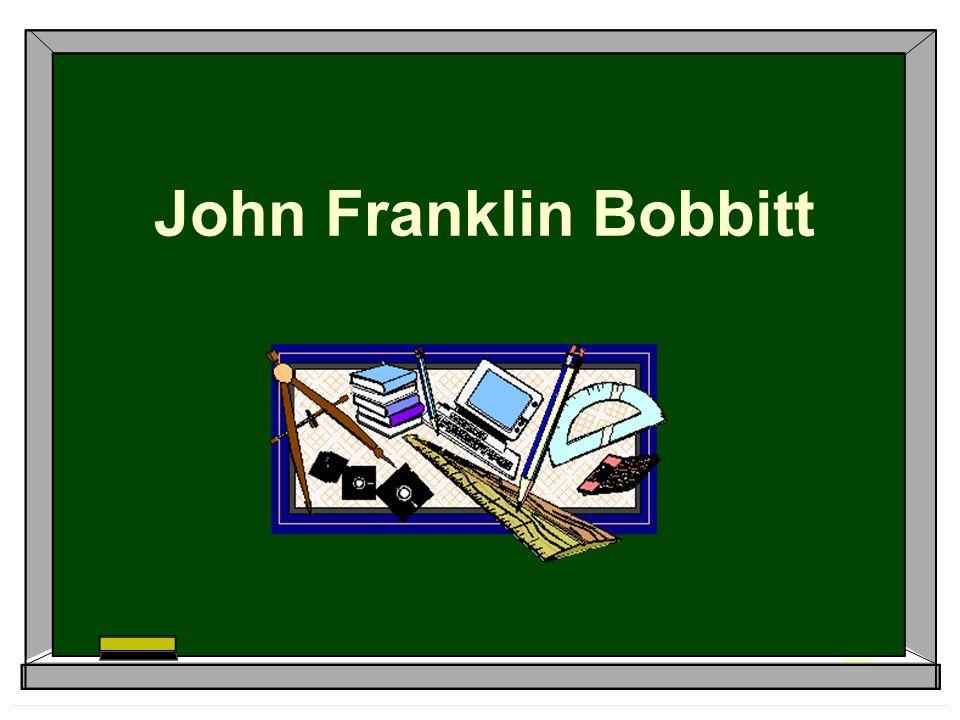 john franklin bobbitt the curriculum